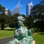 The bronze and the beautiful 21st century Sydney skyline