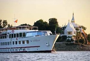 """The Orient Express 'Road to Mandalay' on the Irrawaddy River"