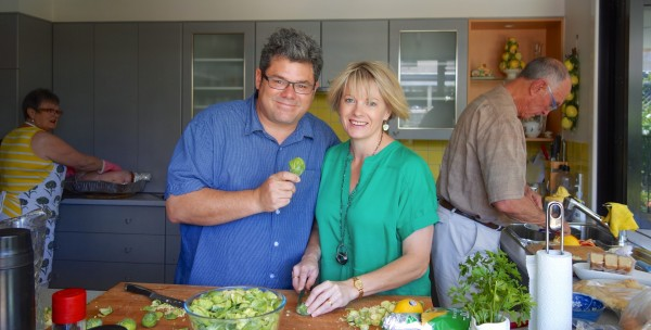 A 'Family Affair' with Mark and Chris on shredded 'brussels sprouts' duty