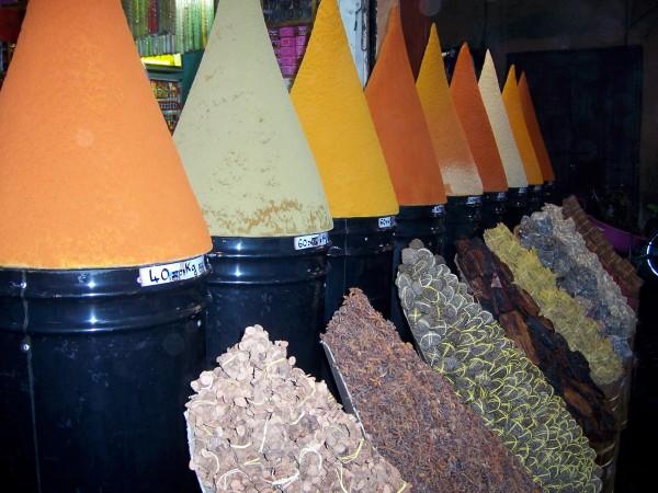Spices - herborist stall display