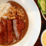 I splurged $12.50, and had this same delicious Pork Katsu 'schnitzel' and accompaniments served with Japanese style curry. There was an appetising sweetness to the curry rather than a chilli bite.