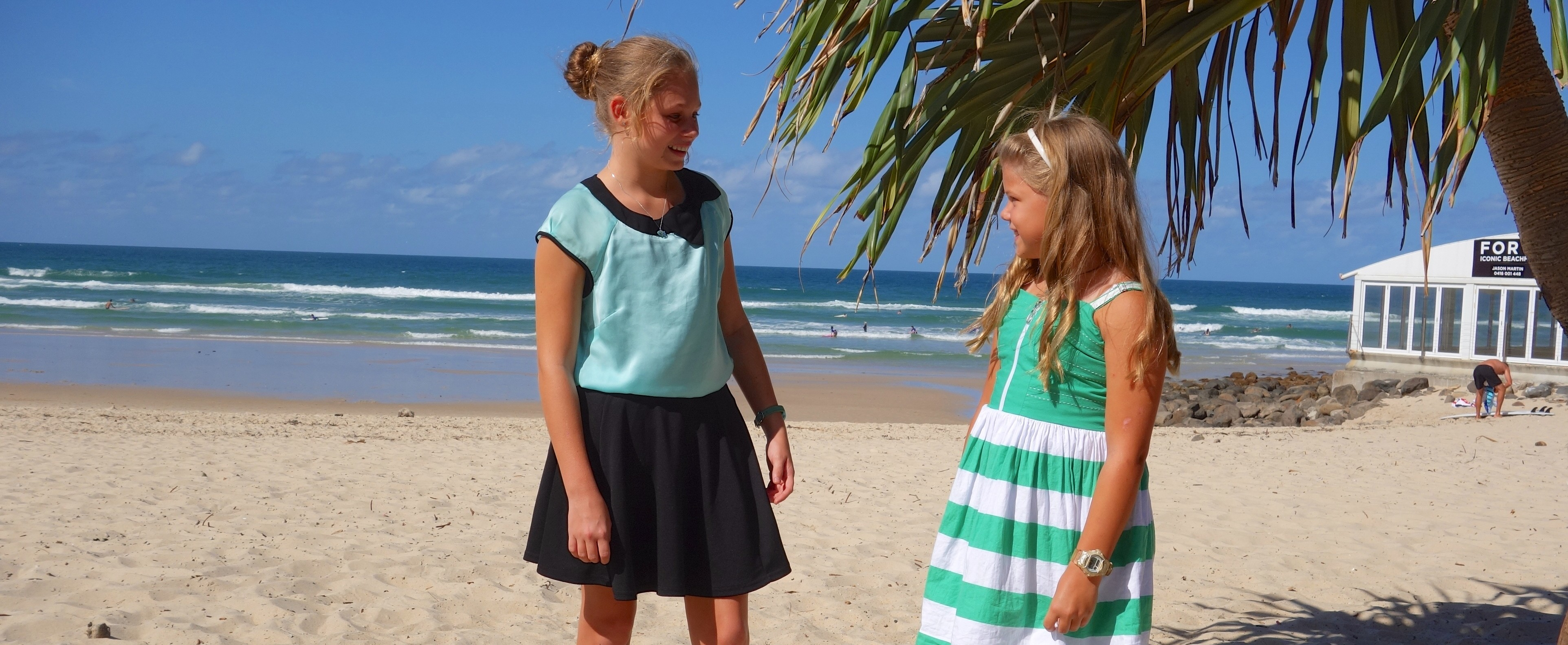 Granddaughters Zoe and Lucy