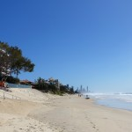 Looking north towards the high-rises of Surfers Paradise from Nobby Beach – on the Gold Coast