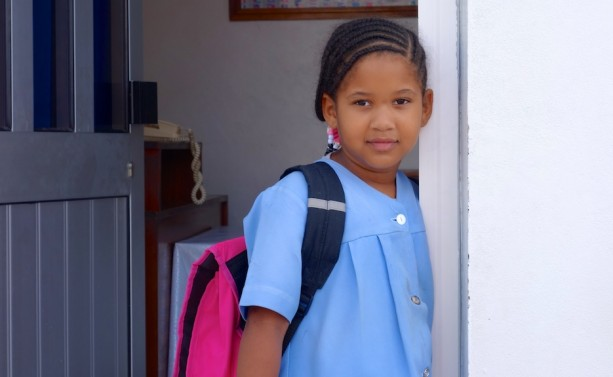 Schoolchild in Ponta de Sol on Santo Antão