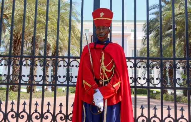 Guard at Presidential Palace in Dakar, Senegal
