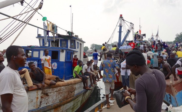 Fishing Harbour in Sekondi - As close as I could get to the fishing boats before the policeman stopped me