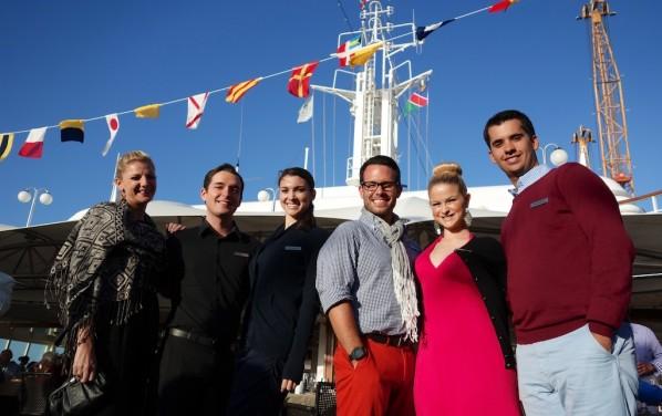'Stars of Silver Sea'  at Sailaway BBQ Poolside - Jemma, Brett, Elizabeth, Zach, Brianne and Jason