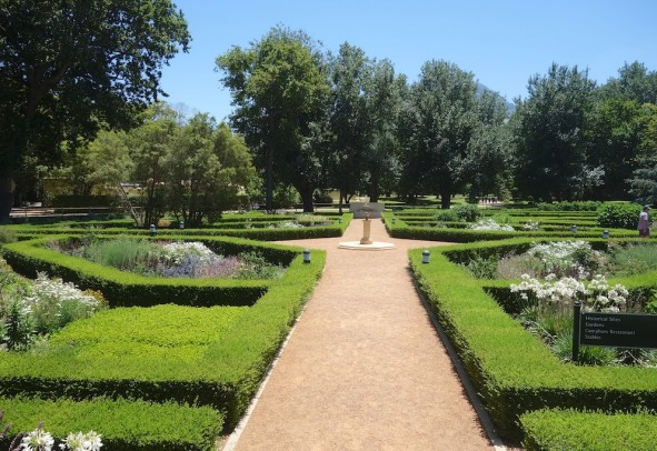 Entrance to Vergelegen Wine Estate with its 18th century symmetrical plans and ornate gardens.