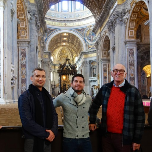 In St Peter's Basilica - Michael I, Ricardo, Michael M