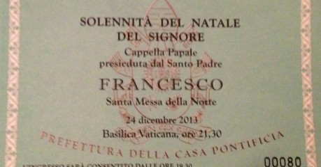 Invitations to Christmas Mass at St Peter's with Pope Francis presiding