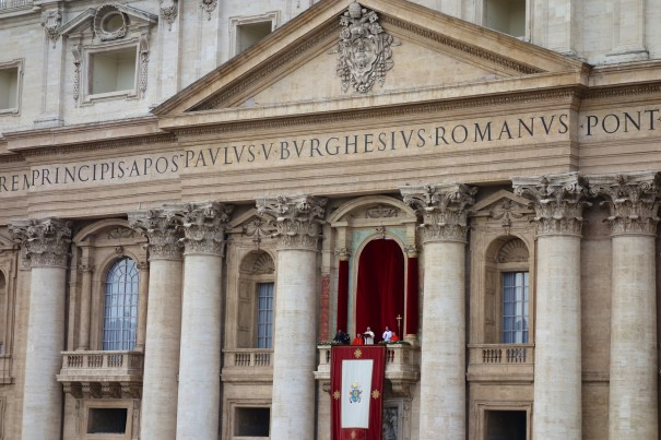 Pope Francis' Christmas Day blessing for the City and for the World called Urbi et Orbi in St Peter's Square.
