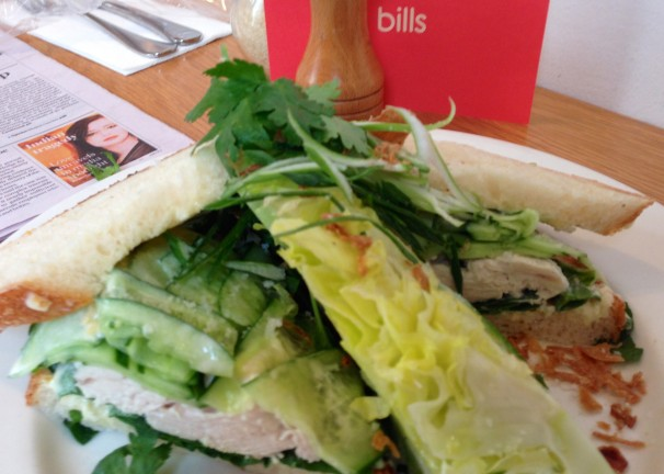 COCONUT POACHED CHICKEN SANDWICH WITH CUCUMBER & LIME MAYONNAISE - SO FRESH!