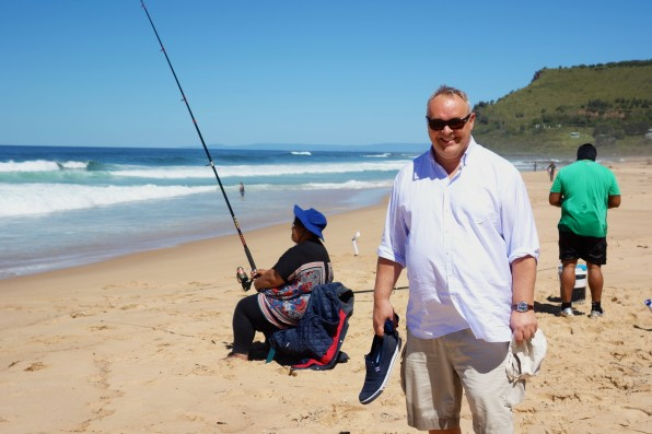 Watching the fishermen locals trying their luck in the surf at Garie Beach