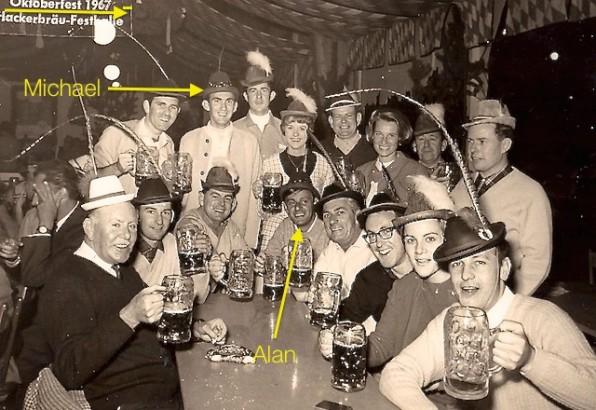 Oktoberfest 1967 - Alan and Michael nearly 50 years ago!
