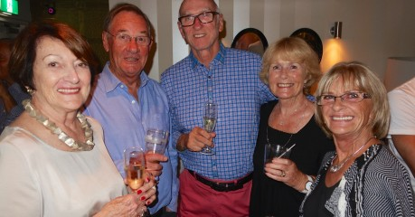 Pam, Robert (Alan's brother), MIchael, Jo, and Carole, Alan's sister - at Alan's Farewell Dinner in Sydney