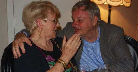 Alan with old friend from LH days, Jane
