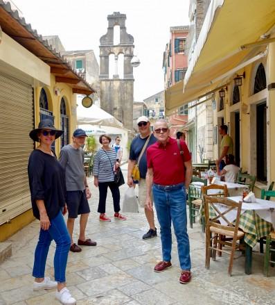 Juanita, Ken, Pam, Frank and Edmundo in Corfu