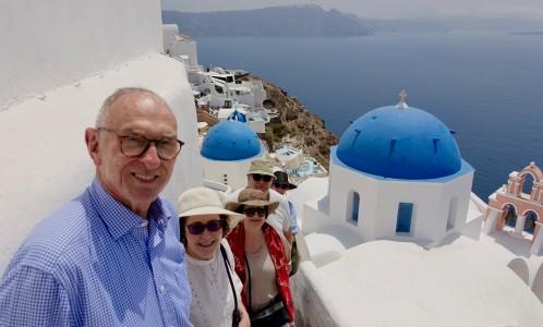 Those blue domes of Santorini in Oia