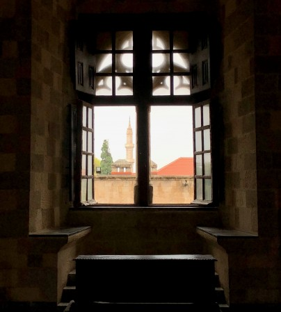 Looking beyond the Palace of the Knights