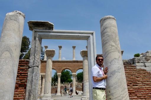 The once huge Basilica of St John in Ephesus