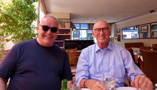 Frank and Michael - enjoying the kebabs in Kuşadasi