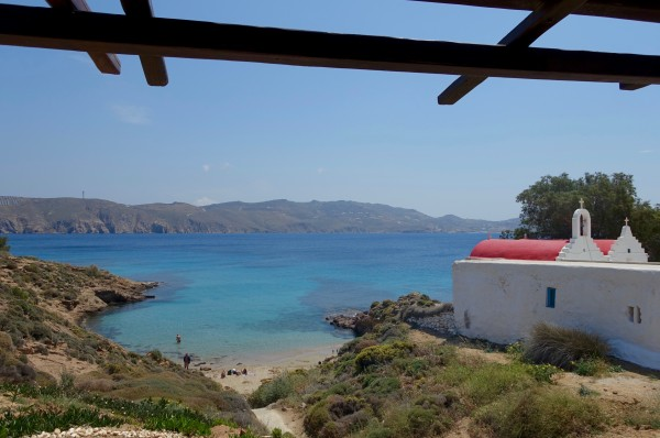 Out of Mykonos for a rustic lunch at Kiki's