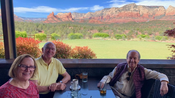 Lunch at Mariposa Grill with Hector and Dolores in Sedona, Arizona