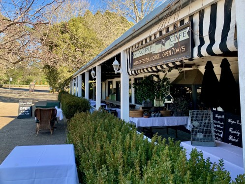The Magpie Cafe in Berrima for hot scones and tea