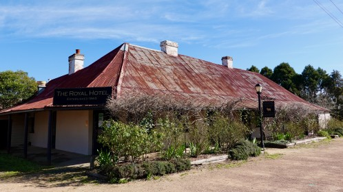 'Grazing' our restaurant in old Royal Hotel from 1875 in Gundaroo