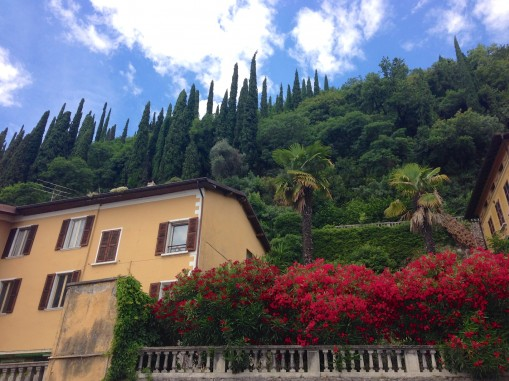 Cypress, terracotta and flowers along the shores of Lake Garda