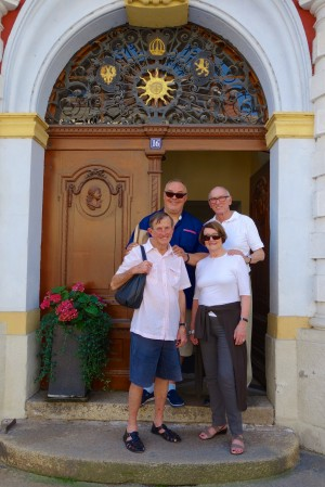 Frank and Michael with Pam and Ken in Görlitz (on the border of Germany and Poland)