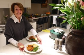 Pam serves up the Osso Bucco