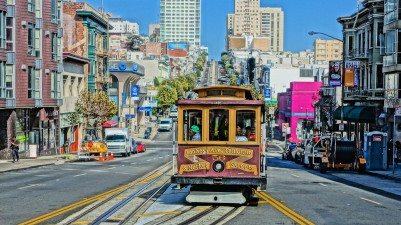 San Francisco Cable Car on California Street after I alighted