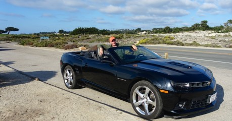 Paul driving our Chevrolet Camaro V8 Convertible on the 17 Mile Drive