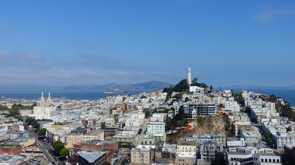 Great view out over Telegraph Hill and San Francisco Bay from my room in a hotel that I stayed 40 years ago