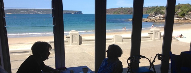 Lunch with 98 year-old Aunt Beth at Bather's Pavilion on Balmoral Beach