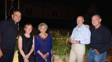 Refreshments to celebrate Christmas with friends on the St Canice's Rooftop Garden after the Midnight Mass