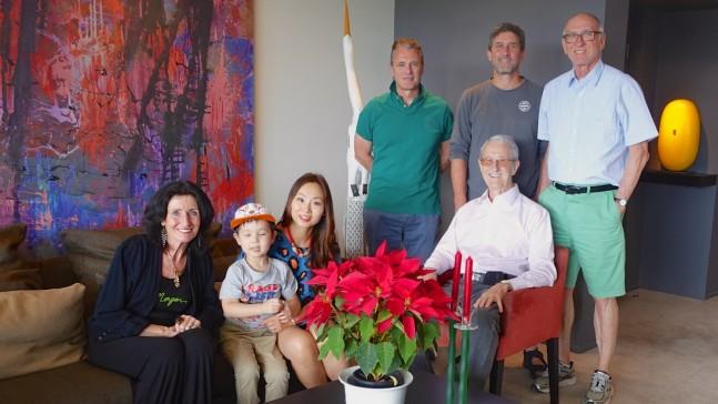 Ruth, Jude, Mindy, Nephew Bill, Nephew Jon, and Uncle Michael
