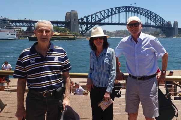 Tony, Ruth and Michael at Sydney's Circular Quay