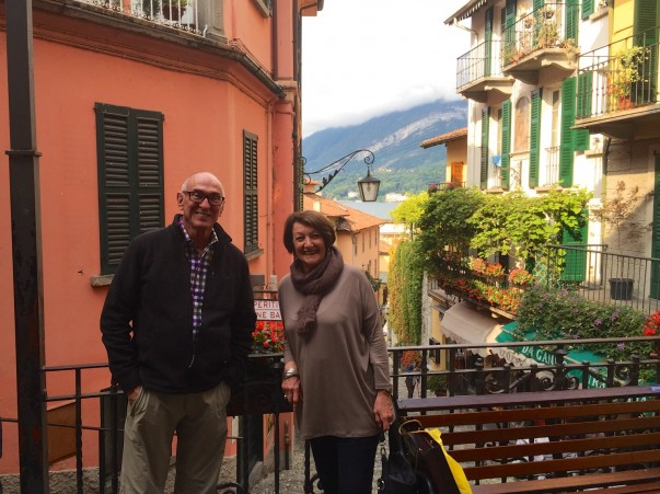 Michael and Pam out for some morning 'retail therapy' before the tourist hordes descend on Bellagio