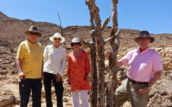 Jim, Suze, Pam and I on 'the Frankincense Trail' outside Salalah