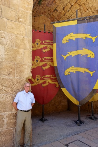 Michael at the excavations in the Hospitalier Compound - the old Crusaders fortress in Acre