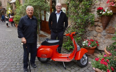 Couldn't pass-up this very 'Roman Holiday' photo opp walking up side-street in Orvieto