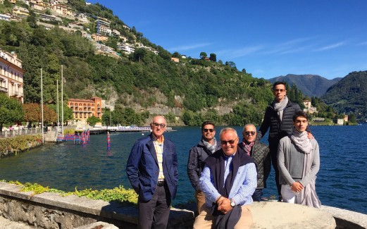 A spectacularly sunny day for lunch at Villa d'Este in Cernobbio on Lake Como