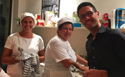 Isabella, Marguerite and Marco - our wonderful chefs