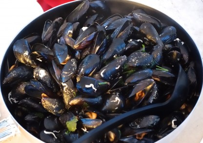 The freshest of seafood - we repeated these sweet little black mussels cooked in their own juices on a couple of occasions