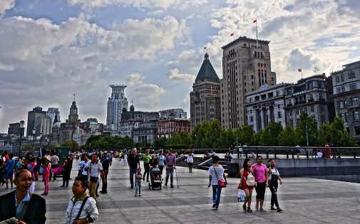 A Sunday afternoon stroll along the river gives a good view of architectural relics along the Bund from Shanghai's days as a treaty port.