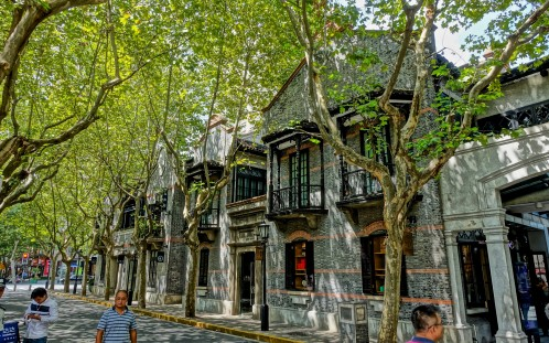 """Restored shikumen (""""stone gate homes"""") in the Xintiandi area, part of the old 'French Concession'"""