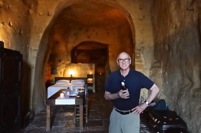 Our quarters in Sextantio Le Grotte della Civita, Matera - three caves deep