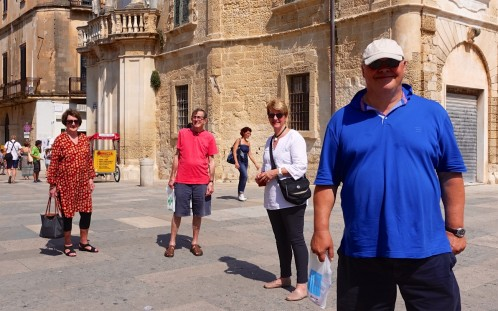 Pam and Ken, Juanita and Frank in baroque Lecce